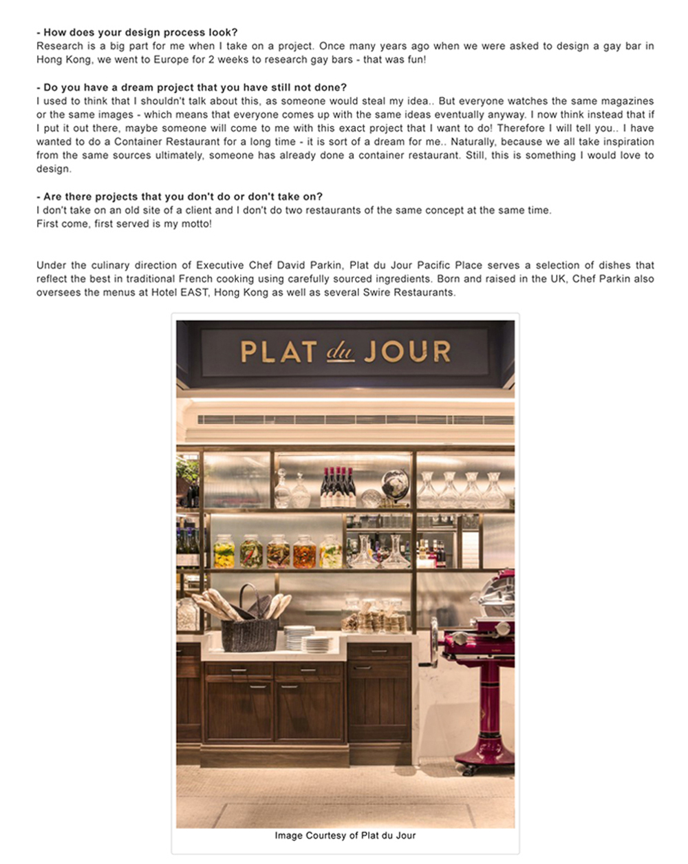 PLAT du JOUR (Pacific Place)-Style By Asia