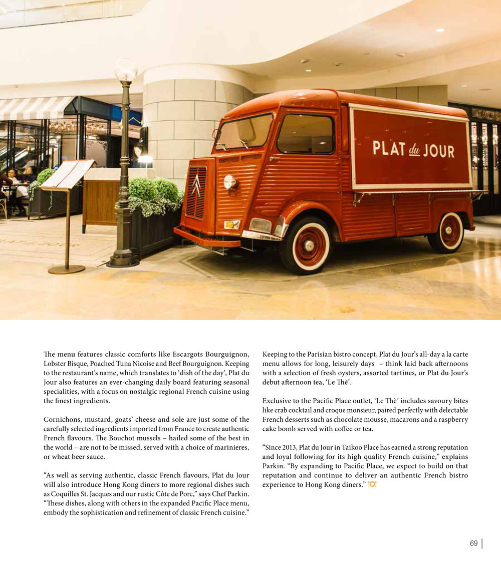 PLAT du JOUR (Pacific Place)-In House Magazine by Swire